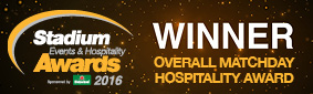Stadium Experience Hospitality Awards - Overall Matchday Winner 2016