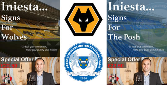 Iniesta signs for Wolves & Peterborough United FC